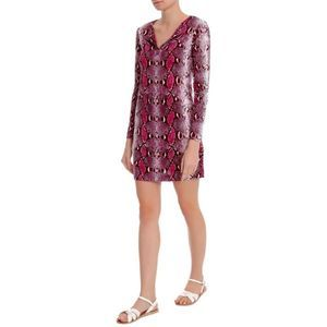 Diane Von Furstenberg Reina Mini Dress Python Pop